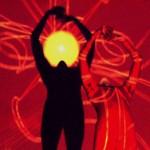 Joseph with NASA red sun
